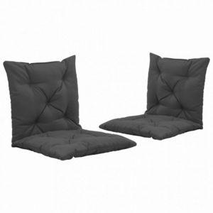 Vodeodolné podušky na záhradné stoličky 2 ks Dekorhome Antracit vyobraziť