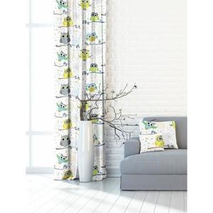 Forbyt, Záves dekoračná alebo látka, OXY Sovy, žltomodrý, 150 cm vyobraziť
