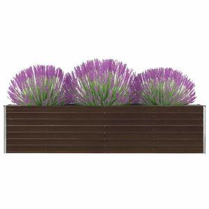 Záhradný kvetináč pozinkovaná oceľ 320x40x77 cm Dekorhome Hnedá vyobraziť