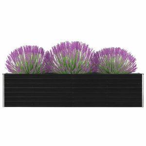 Záhradný kvetináč pozinkovaná oceľ 320x40x77 cm Dekorhome Antracit vyobraziť