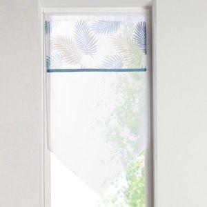 Vitrážová záclonka s bordúrou modrá/zelená 45x90cm vyobraziť