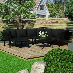 Záhradná sedacia súprava 8 ks čierna Dekorhome vyobraziť