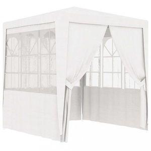 Záhradný party stan s bočnicami 2 x 2 m Dekorhome Biela vyobraziť