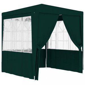 Záhradný party stan s bočnicami 2, 5 x 2, 5 m Dekorhome Zelená vyobraziť