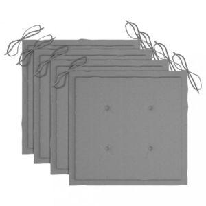 Podušky na záhradné stoličky 4 ks Dekorhome Sivá vyobraziť