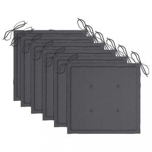 Podušky na záhradné stoličky 6 ks Dekorhome Antracit vyobraziť