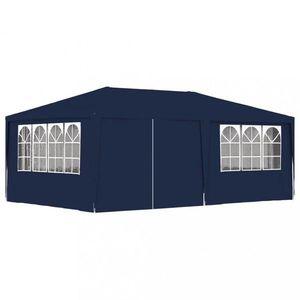 Záhradný party stan s bočnicami 4 x 6 m Dekorhome Modrá vyobraziť