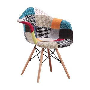 Jedálenská stolička DUO patchwork farebná vyobraziť
