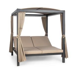 Blumfeldt Eremitage Double XL slnečné ležadlo, 2 osoby, kovový rám, slnečná strecha, závesy vyobraziť