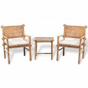 Záhradný nábytok z bambusu vyobraziť
