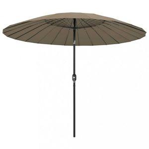 Záhradný slnečník s hliníkovou tyčou ø 270 cm Dekorhome Sivohnedá taupe vyobraziť