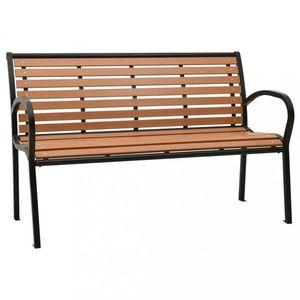 Záhradná lavička čierna / hnedá Dekorhome vyobraziť