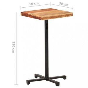 Barový stôl hnedá / čierna Dekorhome 50x50x110 cm vyobraziť