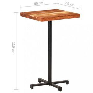 Barový stôl hnedá / čierna Dekorhome 60x60x110 cm vyobraziť