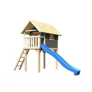 Detská hracia veža so šmýkačkou Dekorhome Modrá vyobraziť