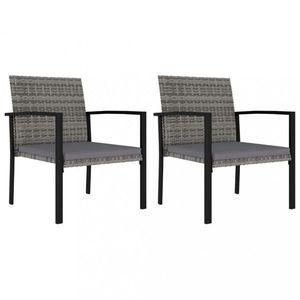 Záhradná polyratanový stolička 2 ks Dekorhome Čierna vyobraziť
