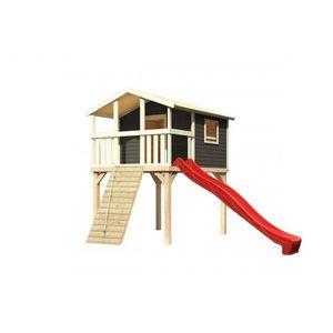 Detské ihrisko so šmýkačkou Dekorhome Červená vyobraziť