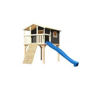 Detské ihrisko so šmýkačkou Dekorhome Modrá vyobraziť