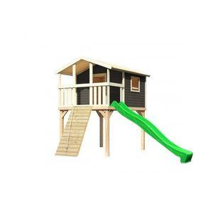 Detské ihrisko so šmýkačkou Dekorhome Zelená vyobraziť