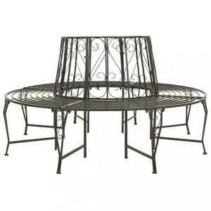 Kruhová záhradná lavice sivá Dekorhome vyobraziť