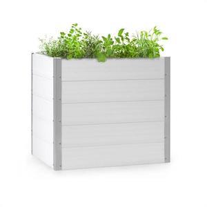 Blumfeldt Nova Grow, záhradný záhon, 100 x 91 x 100 cm, WPC, drevený vzhľad, biely vyobraziť