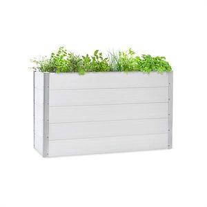 Blumfeldt Nova Grow, záhradný záhon, 150 x 91 x 50 cm, WPC, drevený vzhľad, biely vyobraziť