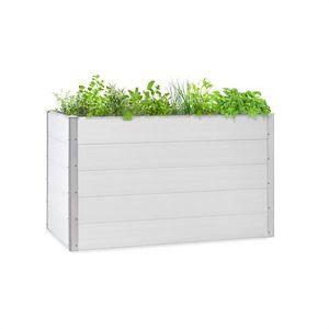 Blumfeldt Nova Grow, záhradný záhon, 150 x 91 x 100 cm, WPC, drevený vzhľad, biely vyobraziť