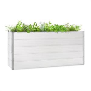 Blumfeldt Nova Grow, záhradný záhon, 195 x 91 x 50 cm, WPC, drevený vzhľad, biely vyobraziť
