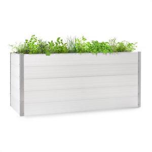 Blumfeldt Nova Grow, záhradný záhon, 195 x 91 x 100 cm, WPC, drevený vzhľad, biely vyobraziť