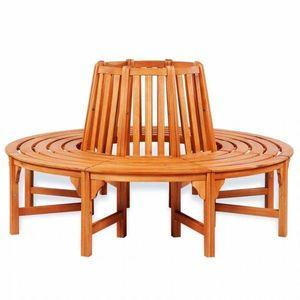 Kruhová lavice okolo stromu Ø 160 cm z eukalyptového dreva vyobraziť