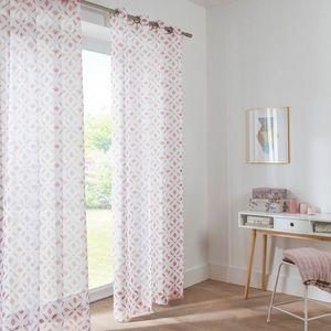 Vitrážové záclona s potlačou ružová 60x160cm vyobraziť