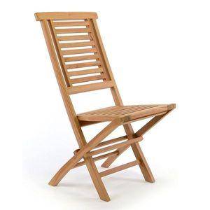 """Záhradná stolička skladacia DIVERO """"Hantown"""" z masívneho teakového dreva vyobraziť"""