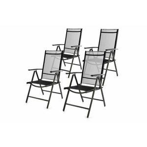 Záhradná sada 4 skladacích stoličiek - čierna vyobraziť