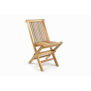 Skladacia detská stolička z teakového dreva DIVERO vyobraziť