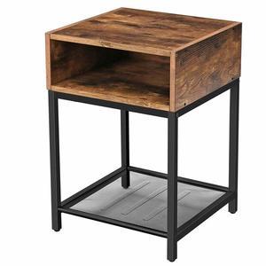 Rustikální stolek VASAGLE hnědočerný vyobraziť