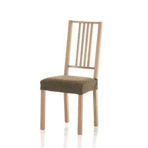 Forbyt, Poťah elastický na sedák stoličky, Petra komplet 2 ks, hnedý vyobraziť