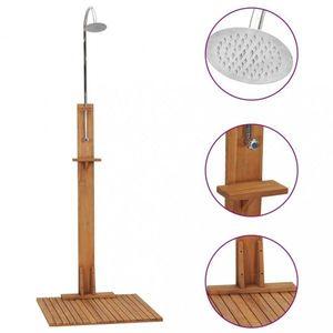 Záhradná sprcha hnedá / strieborná Dekorhome vyobraziť