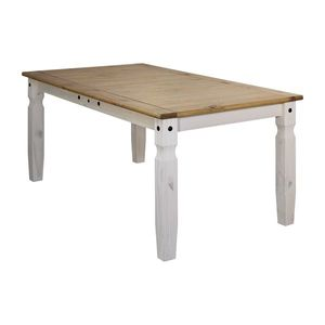 Jedálenský stôl 178x92 CORONA biely vosk vyobraziť