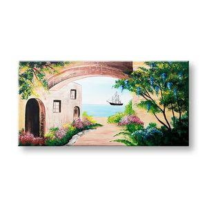 Maľovaný obraz na stenu KRAJINA 1 dielny YOBATLN005E1 (maľované obrazy ateliér LIPA) vyobraziť