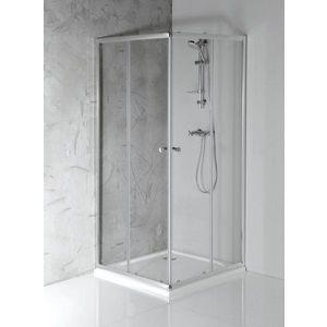 AQUALINE - AGGA štvorcová sprchová zástena 800x800mm, číre sklo HLF808 vyobraziť