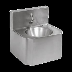 Sanela - Nerezové automatické závesné umývadlo s elektronikou ALS, s termostatickým ventilom, 6 V vyobraziť