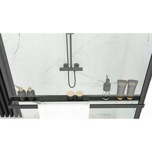 REA - Držiak na uteráky s poličkou pre sprchovú zástenu čierna HOM-00652 vyobraziť