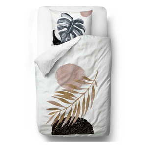 Obliečky z bavlneného saténu Butter Kings Glossy Leaf, 200 x 200 cm vyobraziť