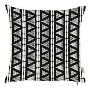Čierno-biela obliečka na vankúš Mike & Co. NEW YORK Geometric Tribal, 43 × 43 cm vyobraziť