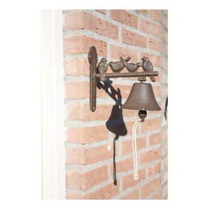 Liatinový nástenný zvonček s dekoratívnymi vtáčikmi Esschert Design vyobraziť