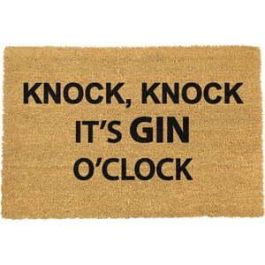 Rohožka z prírodného kokosového vlákna Artsy Doormats Gin O'Clock, 40 x 60 cm vyobraziť