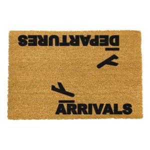 Rohožka z prírodného kokosového vlákna Artsy Doormats Arrivals and Departures, 40 x 60 cm vyobraziť