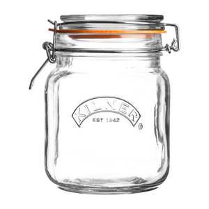 Hranatý pohár na závaranie s klipom Kilner, 1 l vyobraziť