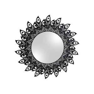 Nástenné zrkadlo s rámom v čiernej farbe PT LIVING Peacock Feathers, 60 × 30 cm vyobraziť