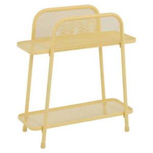 Žltý kovový odkladací stolík na balkón ADDU MWH, výška 70 cm vyobraziť